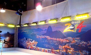 3D декор посреща коментаторите и гостите за откриването на Световното в Бразилия