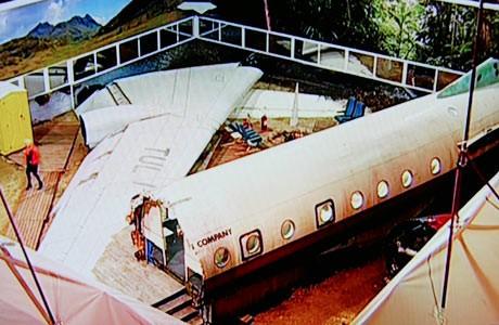 двор с отломки от паднал самолет
