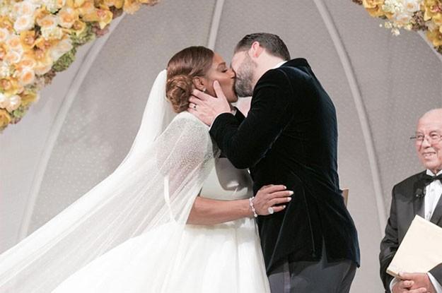 снимки от сватбана на Серина Уилямс и  Алексис Оханян