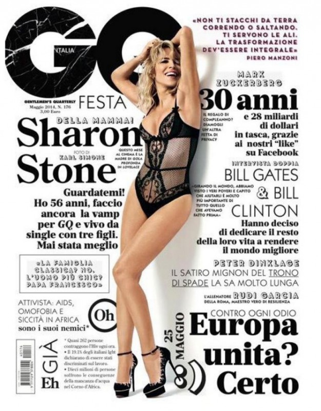 56-годишната Шарън Стоун се разсъблече за мъжко списание
