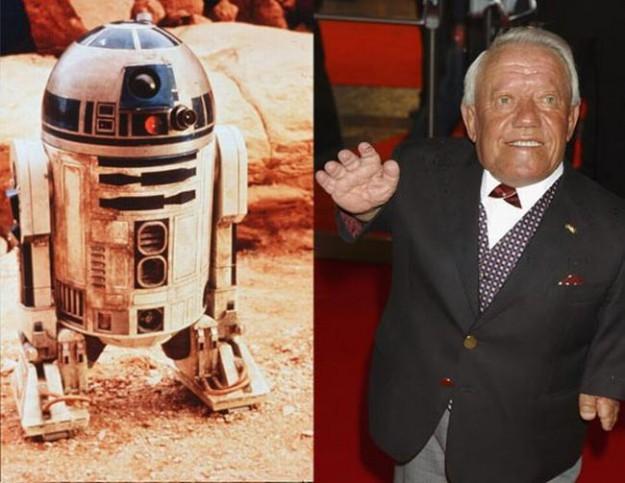 Кени Бейкър в ролята на дроида R2D2. След филма той...