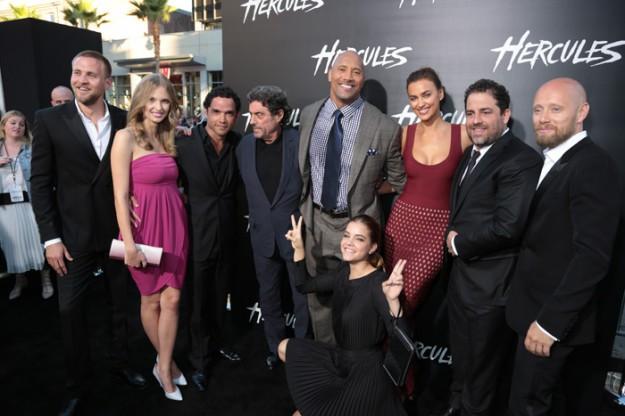 Любимците на Холивуд се събраха за световната премиера на 'Херкулес'
