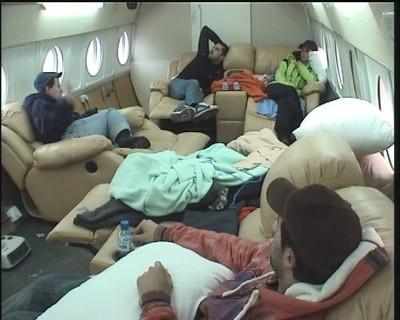 В самолета